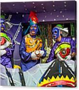 Purple Party People Canvas Print