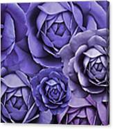 Purple Passion Rose Flower Abstract Canvas Print