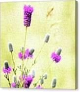 Purple Passion Texture Canvas Print