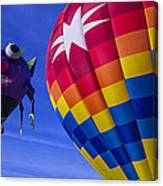 Purple People Eater Rides The Wind Canvas Print