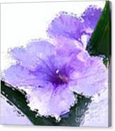 Purple Petunia Canvas Print