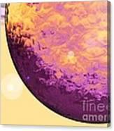 Purple Raindrop Canvas Print