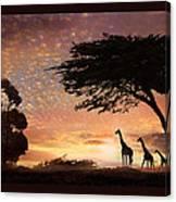 Purple Safari Sunset Canvas Print