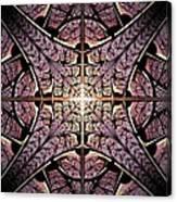 Purple Shield Canvas Print