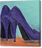 Purple Shoes Canvas Print