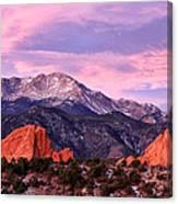 Purple Skies Over Pikes Peak Canvas Print