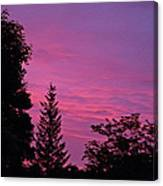 Purple Sky At Night Canvas Print