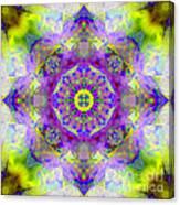 Purple Star Yantra Mandala Canvas Print