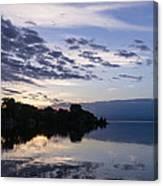 Purple Sunrise Clouds Canvas Print