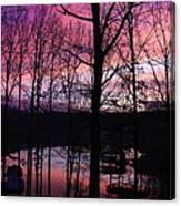 Purple Sunset On Smith Mt. Lake Canvas Print