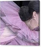 Purple Swan Canvas Print