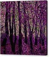 Purple Trees Canvas Print