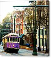 Purple Trolley Canvas Print