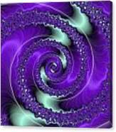 Purple Vortex Canvas Print