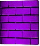 Purple Wall Canvas Print