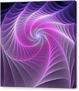 Purple Web Canvas Print
