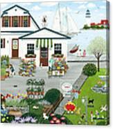 Purr-fect Blooms  Canvas Print