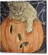 Purrfect Halloween Canvas Print
