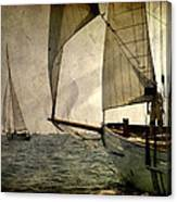 Pursuit In Deep Sea Canvas Print