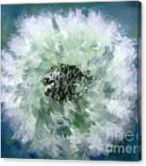 Pursuit Of Happiness Blue White Canvas Print