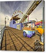 Pushing On The Pier Canvas Print