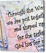 Put Together Canvas Print