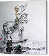 Putin's Surprising Crimea Visit Canvas Print