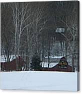 Putnam County Farm in Winter Canvas Print