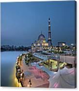 Putra Mosque At Blue Hour Canvas Print