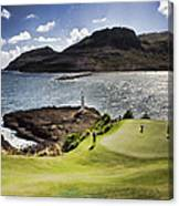 Putting Green In Paradise Canvas Print