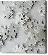 Putting Puzzle Pieces Together Canvas Print