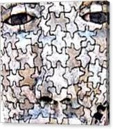 Puzzled Man No2 Canvas Print