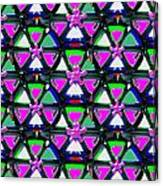 Pyramid Dome Triangle Purple Elegant Digital Graphic Signature   Art  Navinjoshi  Artist Created Ima Canvas Print
