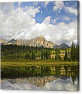 Pyramid Mountain And Cottonwood Slough Canvas Print