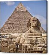Pyramids And Sphinx In Egypt Canvas Print
