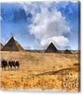 Pyramids Of Giza In Egypt Canvas Print