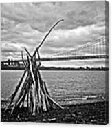 Pyre At The Bridge Canvas Print