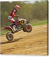 Quad Racer Jumping Canvas Print