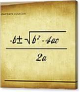 Quadratic Equation - Aged Canvas Print