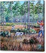 Quail Hunting...a Southern Tradition. Canvas Print