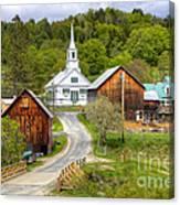 Quaint Vermont Village Canvas Print