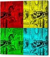 Quad Color Horses Canvas Print