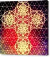 Quantum Cross Hand Drawn Canvas Print