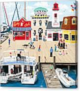 Quartet At The Quay Canvas Print