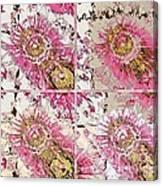 Quatro Floral - 22a Canvas Print