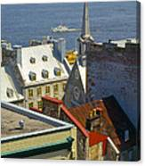 Quebec Lower Town Canvas Print