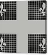 Quebec Metal Mesh Flag Canvas Print
