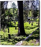 Quechee Vermont Cemetary Canvas Print