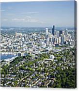 Queen Anne Hill, Lake Union, City Canvas Print