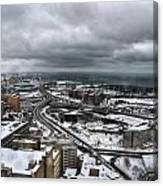 Queen City Winter Wonderland After The Storm Series 0011 Canvas Print